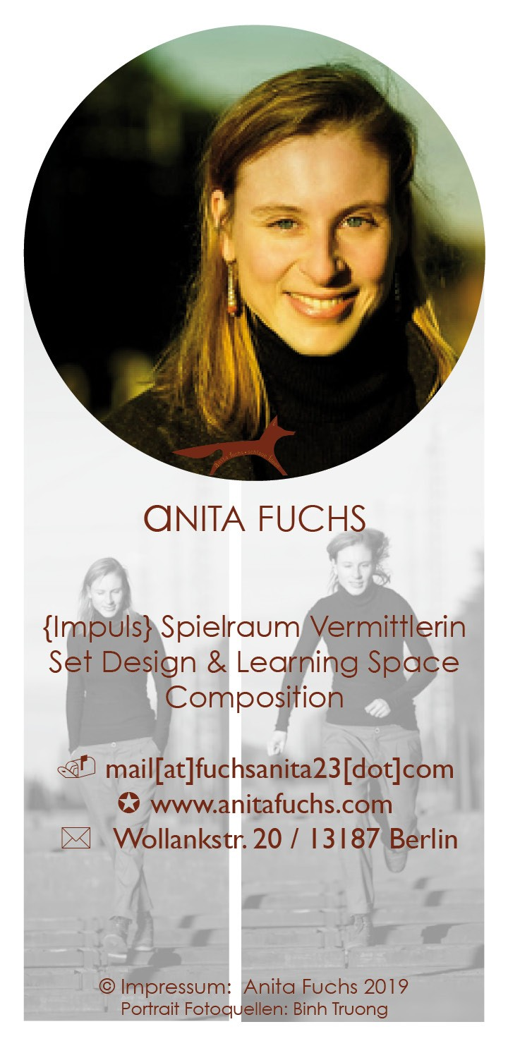 Anita Fuchs: Spielraum Vermittlerin, Set Design & Learning Space Composition